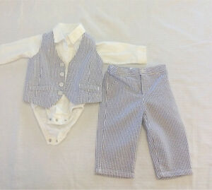 Carter's baby boy suit outfit 9 months or 12 mo (2 avail)