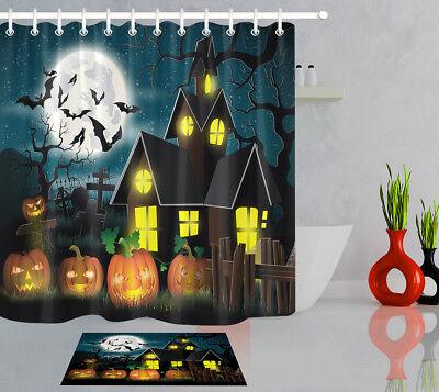 Halloween Polyester Fabric Pumpkin Moon Bat 72