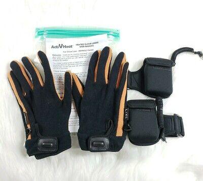 Brookstone ActiVHeat Battery Heated Glove Liners 8BHWGL3 Large - XL Wrist Battery Heated Glove Liners