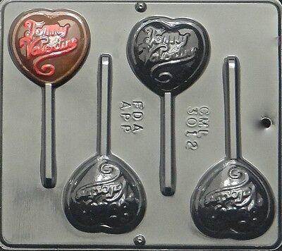 To My Valentine Lollipop Chocolate Candy Mold Valentine  3012 NEW