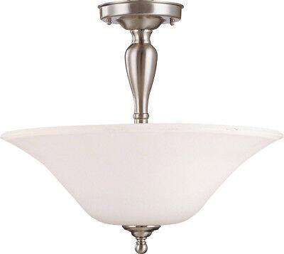 Convertible Semi Flush Ceiling Light (Dupont Brushed Nickel LED Convertible Semi-Flush Ceiling)
