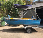 Aluminium 3.3M runabout tinny with canopy, seats and trailer Pretty Beach Gosford Area Preview