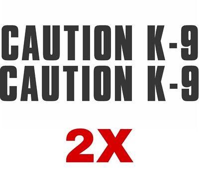 2X Caution K-9 Belgian Malinois dog window vinyl decal Stickers Puppy Paw K9 for sale  Torrance