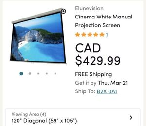 """Manual Projection Screen 120"""""""