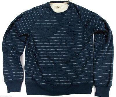 Lightning Bolt Long Sleeve Crew Neck Sweater Insignia Blue Stripe Surf Bolt ()