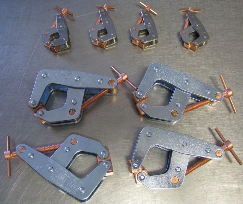 "Kant Twist Clamps Set of 8 NEW USA Made T-Handle 4 X 401 1"" and 4 X 405 2"" Inch"