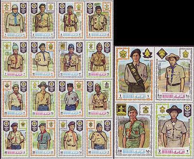 Manama 1971 Scout Pfadfinder, Mi.465-484A (2 Zusammendrucke) MNH