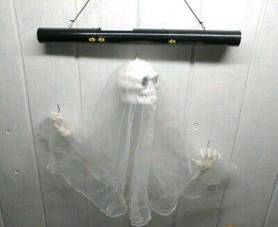Gemmy Halloween Lighted Floating Skull Ghost Marionette Makes Spooky Noises HTF (Floating Ghost)