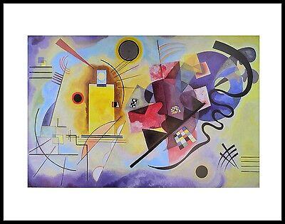 Blau und Gelb Quadrat 1:1 Glasbild Kunstdruck Piet Mondrian Komposition mit Rot
