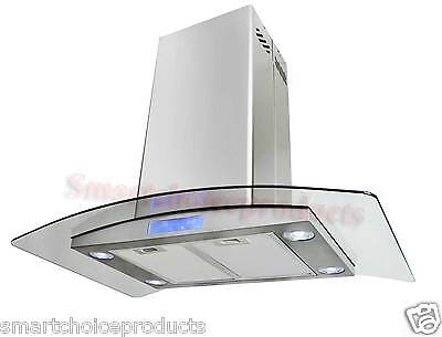 "GTC Kitchen 36"" Island Stainless Steel Glass Range Hood S668is2 Stove Vents New on Rummage"