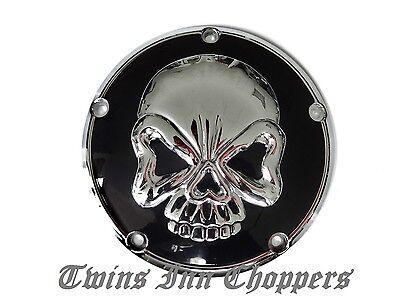 Harley Derby Cover Skull Primär 99 -16 Kupplung Deckel Softail Touring FXD Dyna