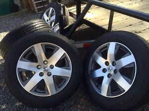 "Honda Pilot 18"" Rims with Michelin Winter Tires"