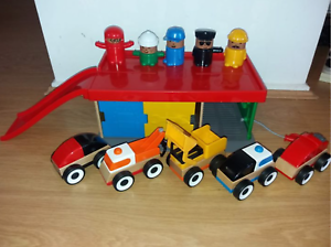 Ikea toy car garage and accessories