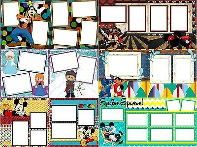28 DISNEY Digital Scrapbooking Quick Pages - 14 Double Page Layouts