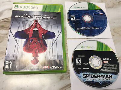 The Amazing Spider-Man 2 & Edge of Time MARVEL GAMES LOT Xbox 360, 2014)