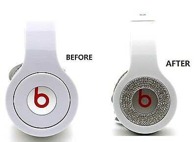 NEW BLING BLING ROUND PIECES ACCESSORY FOR BEATS BY DR.DRE SOLO & HD HEADPHONE