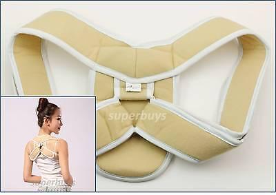 S Skin Tone Posture Support Corrector Back Straight Shoulder Brace Strap Correct