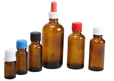 Apotheker Braunglas (Braunglasflasche Apothekenflasche Menge, Größe, Verschluss wählbar)