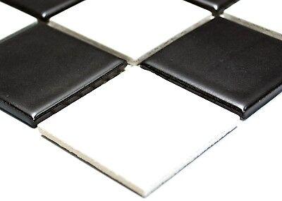 BLACK WHITE mat  Mosaic tile Ceramic WALL FLOOR BATHROOM KITCHEN -