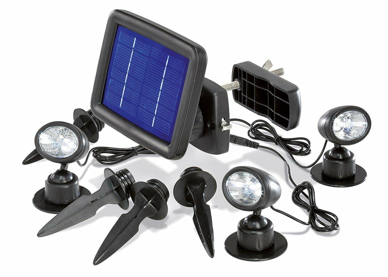 LED Solarleuchte Gartenbeleuchtung Solar Gartenstrahler Außenlampe Erdspieß IP65