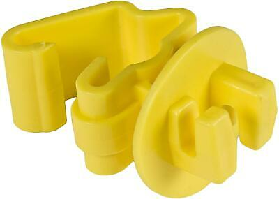 Electric Fence T Post Insulators Ity-z Standard Snug-fitting Wire Yellow 25pcs