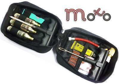 MOTORCYCLE MOTORBIKE TUBELESS TYRE CAR EMERGENCY PUNCTURE REPAIR KIT WITH POUCH