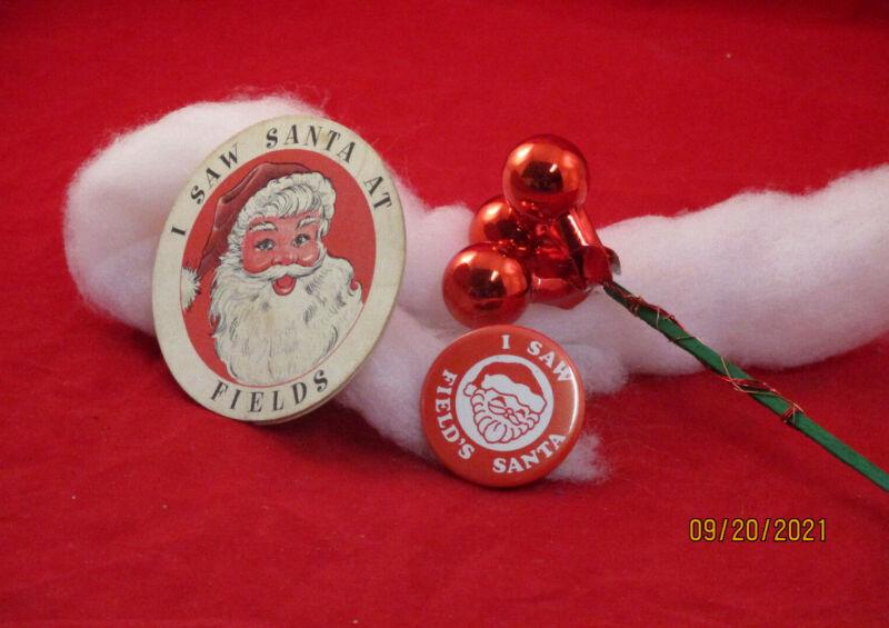 "Marshall Fields ""I saw Santa"""