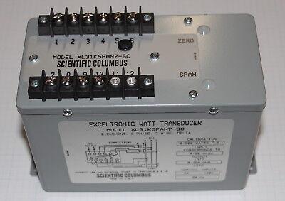 Ametek Scientific Columbus Xl31k5pan7-sc 3ph Exceltronic Watt Transducer