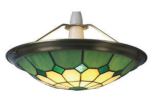 Green-Tiffany-Bistro-Style-Uplighter-Ceiling-Light-Pendant-Shade-Small-UPL23