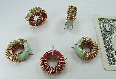 5 New Tiger Copper Wound Ferrite Chokes Toroids Inductors Coils Vertical Mount