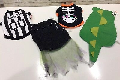 Dog Costumes  Lot of 4 Size Small 18 Lbs. Rufferee  Dragon  Witch  Skeleton  - Dragon Dog Costumes