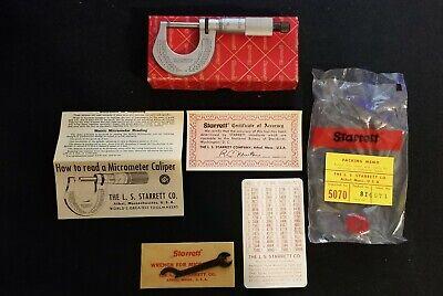 Starrett No.t230xrl 0-1 Outside Analog Micrometer Tool Maker