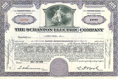 Scranton Electric Company 1952
