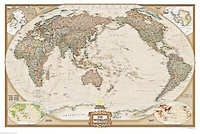 NEW National Geographic World Executive Poster Size Wall Map 36