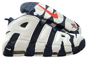 NIKE AIR MORE UPTEMPO MIDNIGHT NAVY-WHITE-SPORT RED SZ 15 [414962-401]