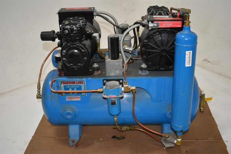 Used Healthco LT-6D Dental Air Compressor Unit Quiet - Low Price