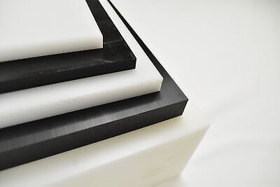Natural White Delrin Acetal Copolymer Plastic Sheet 38 X 6 X 6