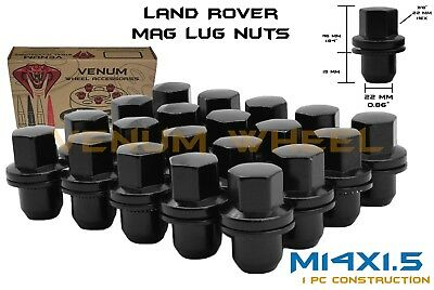 20pc Land Rover OEM Factory Black Replacement Lug Nuts 14x1.5 Fits LR2 Lr3 LR4