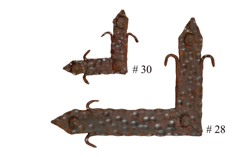 """Rustic Door Hardware-""""Square"""" Large #28-Mexican-Iron-Hand Hammered-Handmade"""