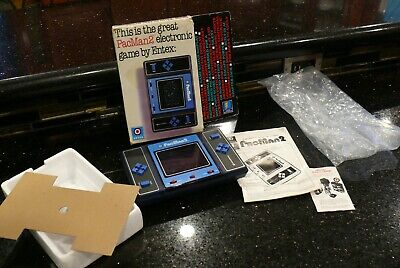 ENTEX PAC MAN  Vintage Electronic Handheld Tabletop  Arcade Video Game IN BOX