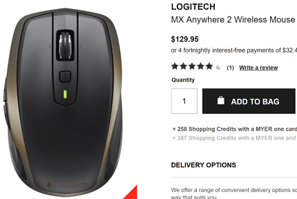 LOGITECH MX Anywhere 2 Wireless Mouse 62% OFF
