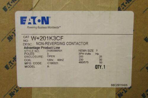 EATON CUTLER HAMMER W+201K3CF Size 3 W200 W201 Advantage Contactor