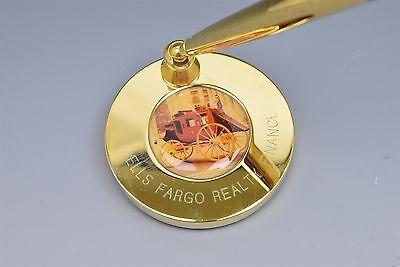 Quill Gold Desk Ball Point Pen Set Wells Fargo Realty Finance Stagecoach Nib