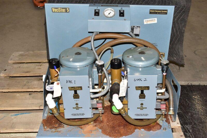 Air Techniques VacStar 5 Dental Vacuum Pump System Operatory Suction Unit