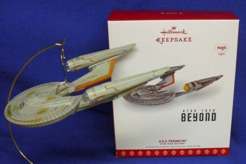 Hallmark Magic Ornament Star Trek Beyond U.S.S. Franklin 2017 Starship Light NIB