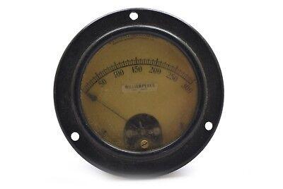 Vintage Westinghouse Analog Panel Meter Milliamperes 0-300 - Steampunk