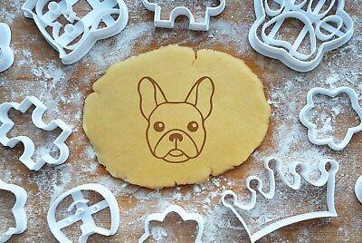 Französische Bulldogge Präge-Ausstecher 6cm Ausstechform 3D Keksausstecher