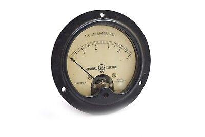 Vintage General Electric Do 41 Analog Panel Meter Milliamperes 0-5 Steampunk