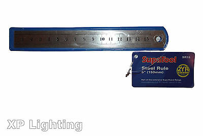 """150mm (6"""") Steel Rule 'SupaTool' All Metric SR15 - BRAND NEW **FREE DELIVERY**"""