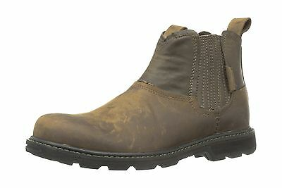 Skechers USA Men's Blaine Orsen Ankle Boot,Dark Brown,12 M U